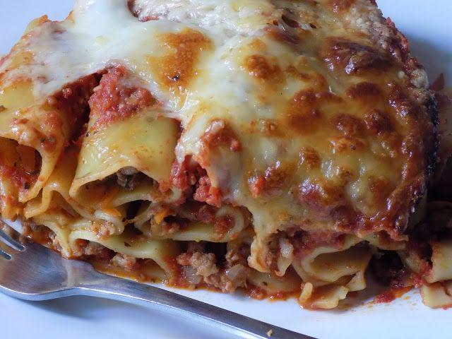 magiczna kuchnia Kasi: Zapiekane cannelloni z mięsem mielonym