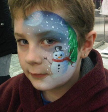 Snowman face paint - Walsh