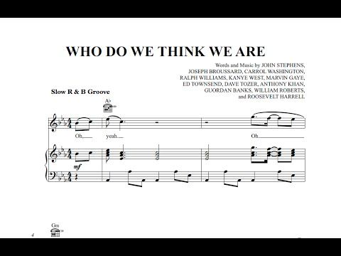 Who Do We Think We Are - John Legend ft. Rick Ross [Sheet Music and Midi Download]  Download link:  http://goo.gl/EmlOr2