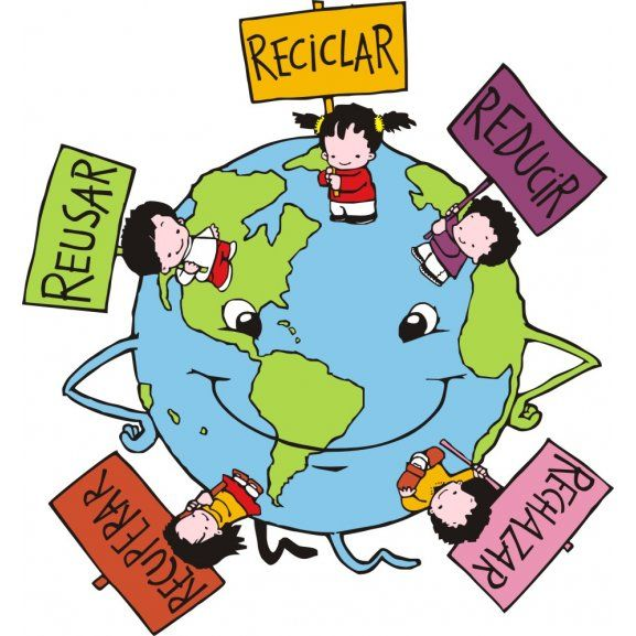 Logo Of 5 Erres Earth Day Activities Emoji Art Muslim Kids