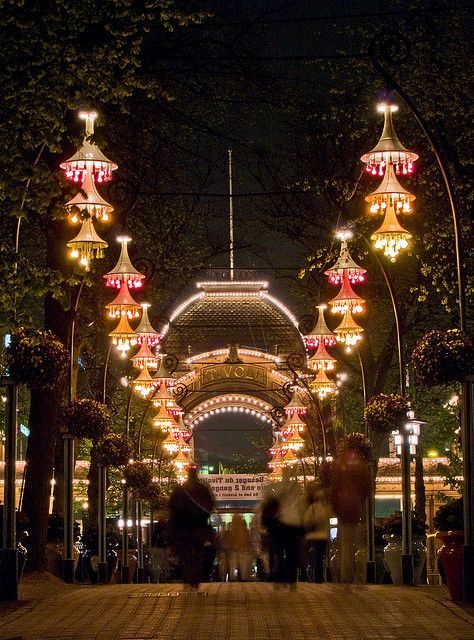 Tivoli Gardens, Copenhagen...we played a concert here... A magical place at night!