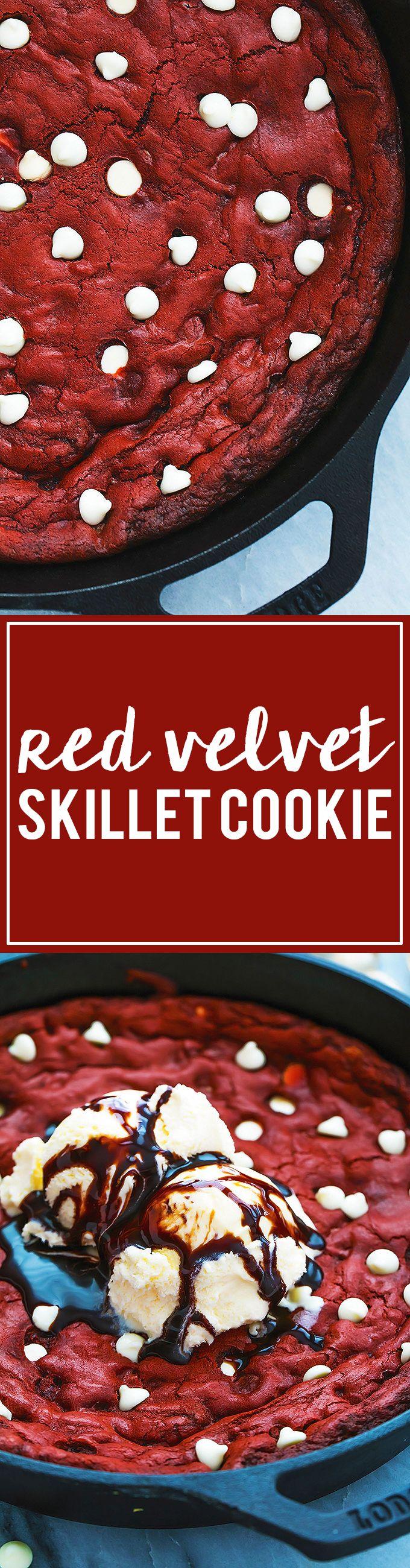 Red Velvet Skillet Cookie | Creme de la Crumb