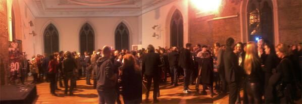 The crowd! @ Smock Alley with the IrishFilmBoard at the 2014 launch - An Eve on Talent.