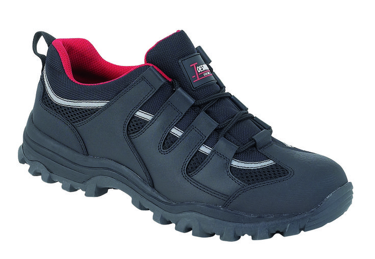 3420:  Is a trainer style S1P/SRA unisex safety footwear.  It has a midsole to prevent ingress from sharp objects through the sole, and it's oil resistant in addition to being anti-static.  What's more the fabric lining has extra wicking to help reduce odour and the footbed is removable.  Sizes 3 - 13.  RRP £30.45
