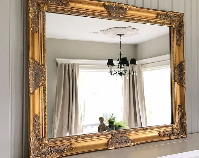Custom Hand Painted Mirrors Chalkboards And More By Hallstromhome Shabby Chic Mirror Farmhouse Mirrors Large Antique Mirror