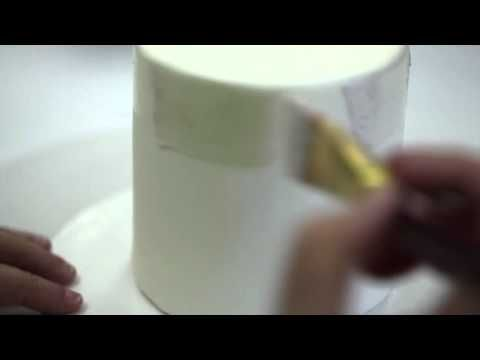 How to Paint a Cake With Luster Dust - YouTube