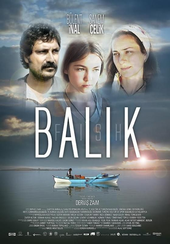 Derviş Zaim'in yönettiği, Bülent İnal ve Sanem Çelik'in başrollerini paylaştığı BALIK filmi afişi