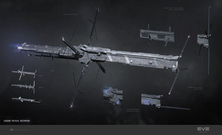 Jackdaw, Caldari tactical destroyer, Pavel Savchuk on ArtStation at https://www.artstation.com/artwork/jackdaw-caldari-tactical-destroyer