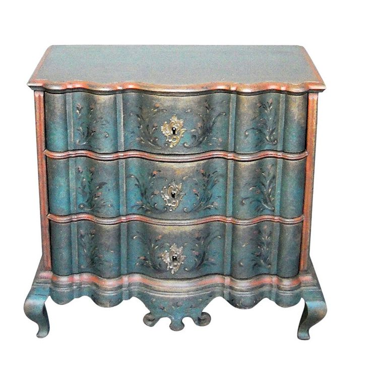 Period Danish Commode with Serpentine Form | From a unique collection of antique and modern commodes and chests of drawers at http://www.1stdibs.com/furniture/storage-case-pieces/commodes-chests-of-drawers/