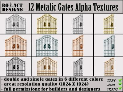 Ro!Act Designs 12 Metalic Gates Alpha Textures