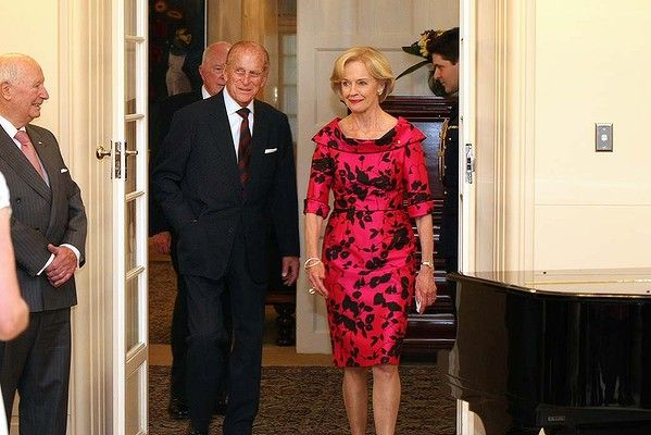 Australia's Governor-General Quentin Bryce  arrives with Britain's Prince Philip, the Duke of Edinburgh