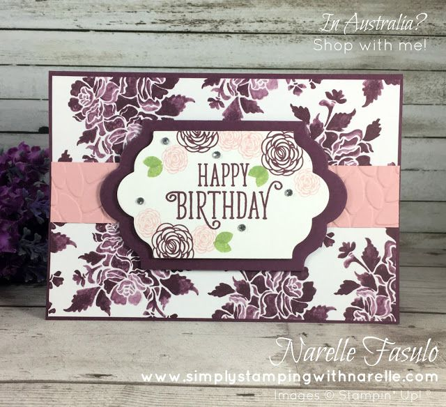 Happy Birthday Gorgeous - Narelle Fasulo - Simply Stamping with Narelle - available here - http://www3.stampinup.com/ECWeb/ProductDetails.aspx?productID=143662&dbwsdemoid=4008228
