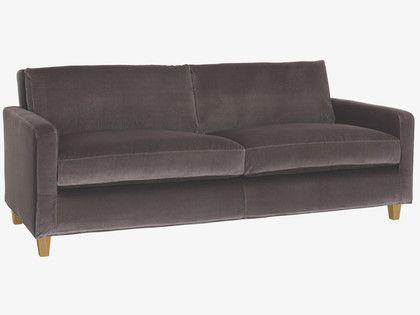 CHESTER GREYS Velvet Grey velvet 3 seater sofa - HabitatUK