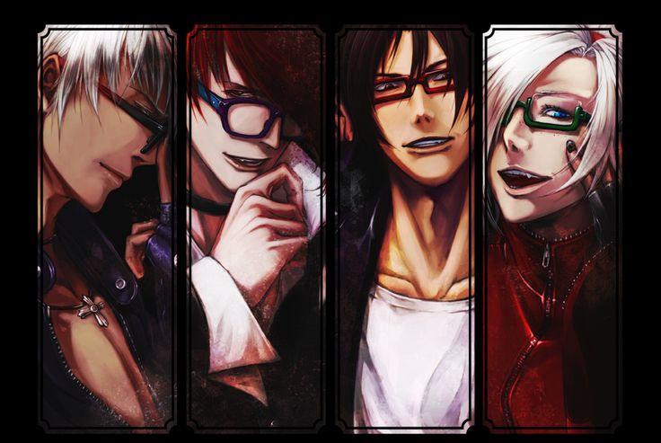 K', Iori, Kyo and Ash glasses fan art.