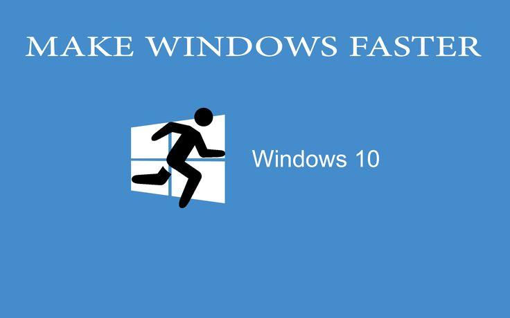 how to make windows 10 shutdown faster
