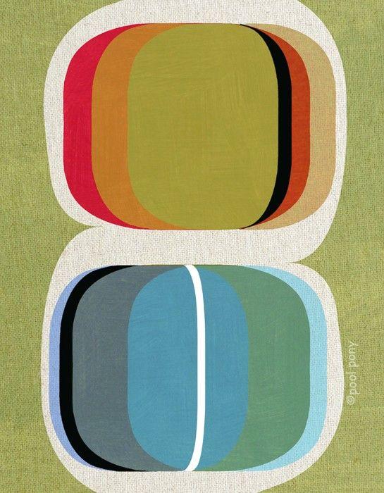 etsy: mid century design art print: Midcentury Graphics Design, Mid Century Colors, Mid Century Prints, Art Prints, Design Art, Pools Ponies, Mid Century Design, Mid Century Art, Rothko Prints