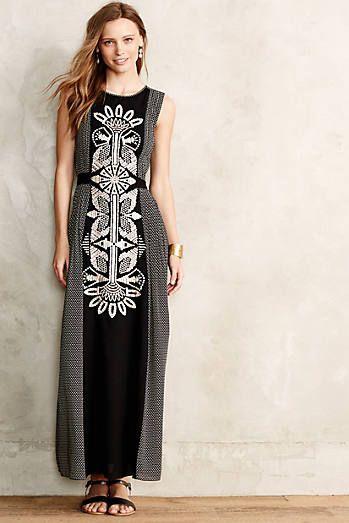Totem Embroidered Petite Maxi Dress