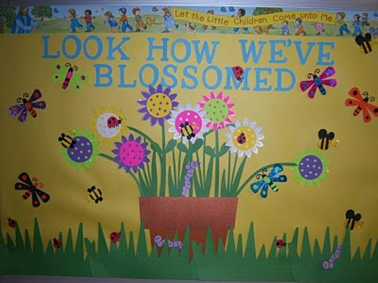 may bulletin boards | Look How We've Blossomed Bulletin Board | MyClassroomIdeas.com