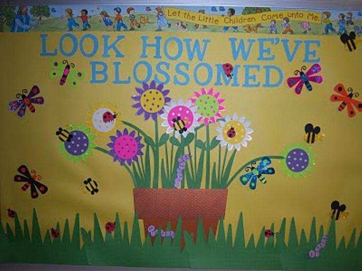 may bulletin boards   Look How We've Blossomed Bulletin Board   MyClassroomIdeas.com