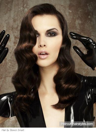hair down finger waveWave Hairstyles, Long Hair, Parties Hairstyles, Holiday Hairstyles, Hair Style, Party Hairstyles, Fingers Waves, Finger Waves, Waves Hairstyles