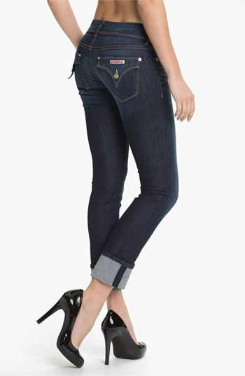 Need these for spring! Hudson Jeans 'Ginny' Crop Stretch Jeans (Stella)   Nordstrom
