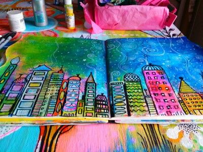 How I created my DLP from Art To The 5th ..Cityscape..Part 1..week 5