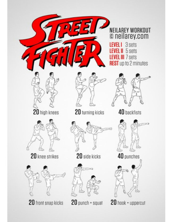 Street fighting, boxing, Muay Thai, Krav Maga, Kick Boxing fitness routine, easy