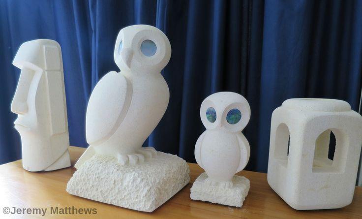 A few recent Oamaru stone pieces