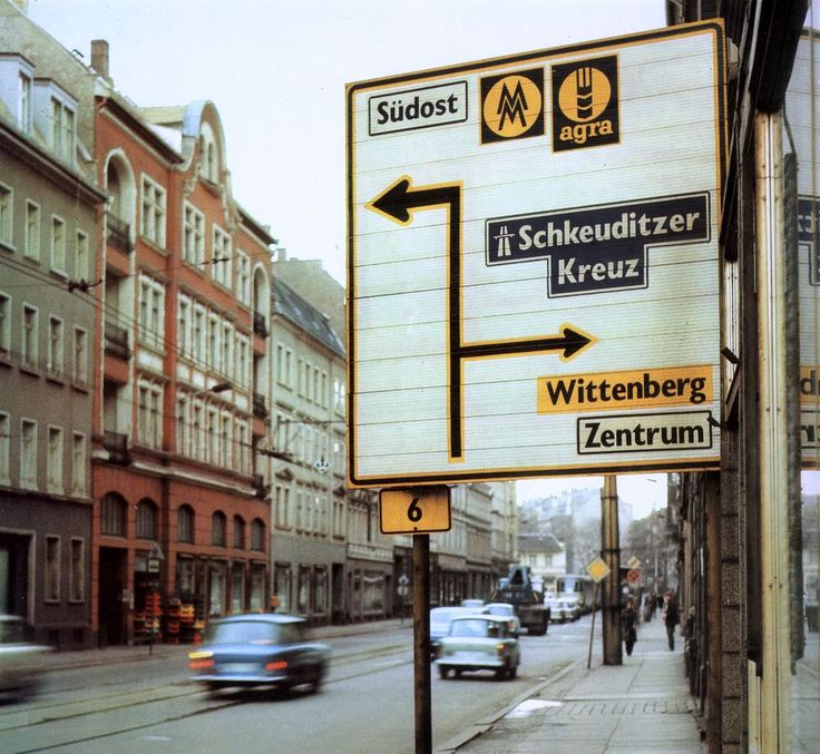 Traffic Sign Typefaces: East Germany