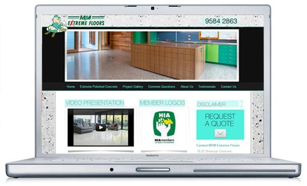 WORDPRESS WEBSITE for MPM Extreme Floors > YouTube & Facebook Accounts
