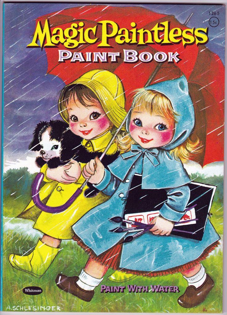Magic Paintless Paint Book Whitman Publishing 1954 From The Disneyland Treasures Ebay