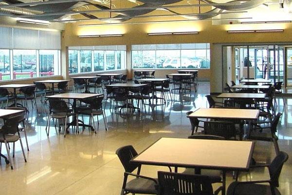 Polished Concrete Cafeteria