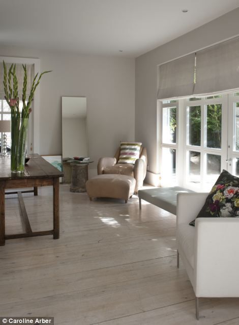 Classic design: Glazed doors lead from the living room to the garden.
