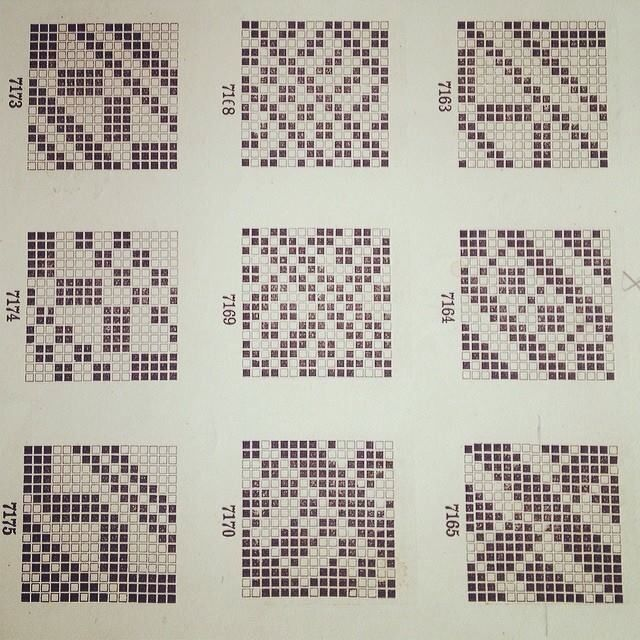 Patterns from an old weaving book.