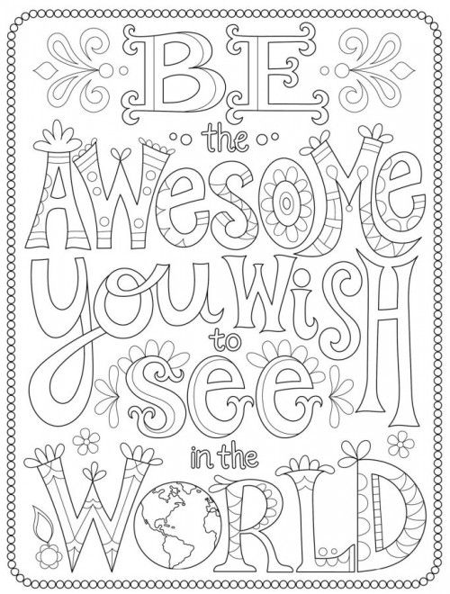 the word awesome coloring pages - photo#4