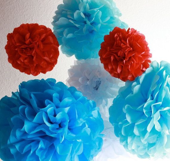 Hey, I found this really awesome Etsy listing at http://www.etsy.com/listing/93618320/12-tissue-paper-pom-poms-the-cat-in-the