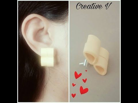 How to Make Quilling Stud Earrings/Design 12/Tutorial - YouTube