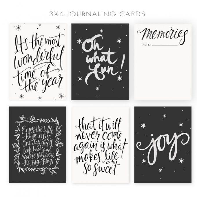 Journaling Cards by Jamie Schultz Designs