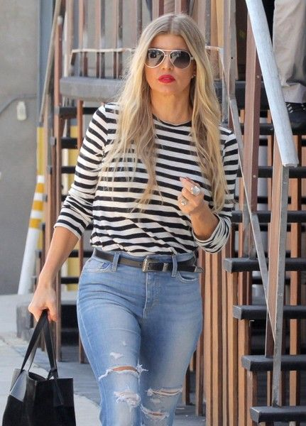 Fergie Heads to a Studio in Hollywood