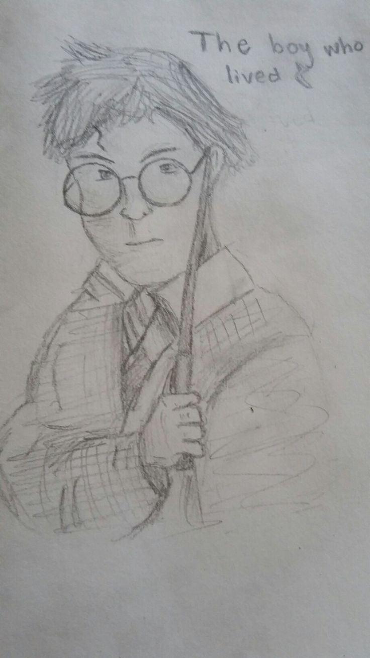 The boy who lived.  Drawing challenge.