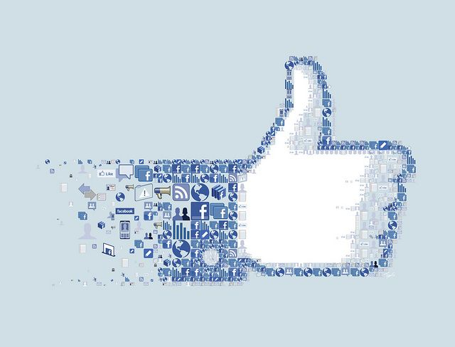 """Mosaic illustration of the """"LIKE"""" button for Fortune magazine."""