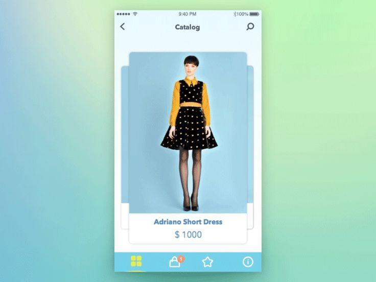Nice fashion e-commerce by Anna Gerasymenko for Yalantis