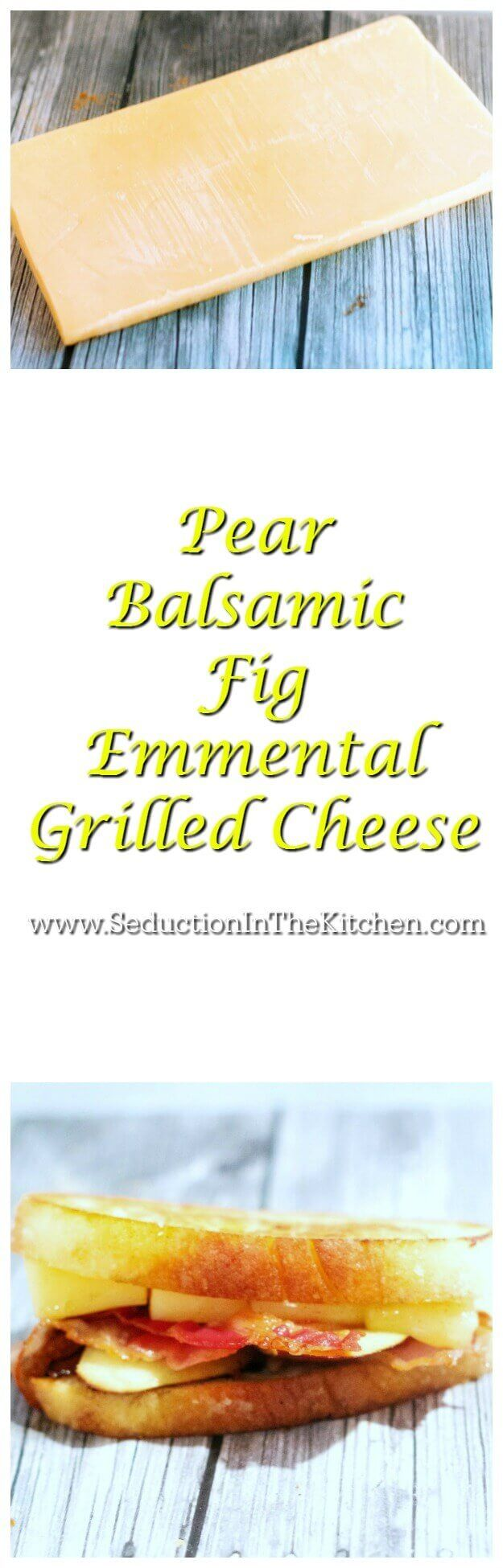 Pear Balsamic Fig Emmental Grilled Cheese was created for #NationalGrilledCheeseDay. #Emmental is a smooth and creamy cheese that goes wonderfully with the balsamic fig and pear. #makeitmagnifique  via @SeductionRecipe