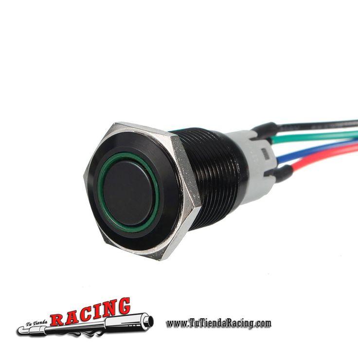 9,3€ - ENVÍO SIEMPRE GRATUITO - Interruptor Momentáneo Retroiluminado 12V 3A 16mm LED Para Coche BMW E60 5 Series Universal - TUTIENDARACING