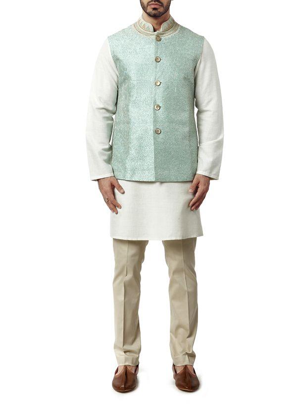 Image result for mint sherwani waistcoat