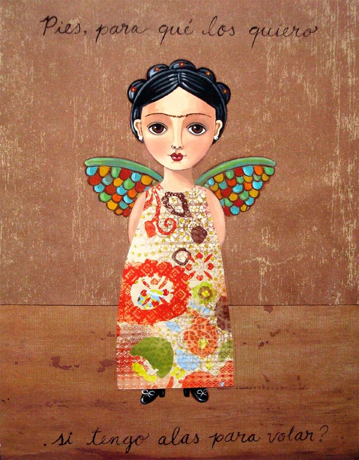 Frida by Claudia Garcia R. #FridaKahlo #wings #ali - Carefully selected by GORGONIA www.gorgonia.it: Frida by Claudia Garcia R. #FridaKahlo #wings #ali - Carefully selected by GORGONIA www.gorgonia.it