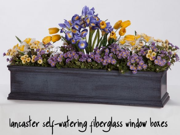 Lancaster Self-Watering Fiberglass Window Boxes