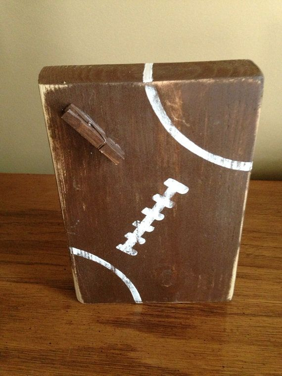 Football Photo Hanger by SouthernFlairStore on Etsy
