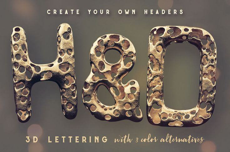 Full Of Holes 3D Lettering – Deeezy – Freebies with Extended License