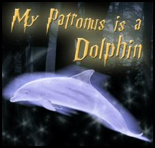 My Patronus is a Dolphin~ A dolphin is both very playful and friendly. Like a dolphin, you are joyful, intelligent, and very funny. You enjoy life, and like to help others. You have so many happy thoughts that you can easily perform the patronus charm. Casting the charm becomes somewhat more difficult during a battle, but your concern for your friends helps you keep your focus.